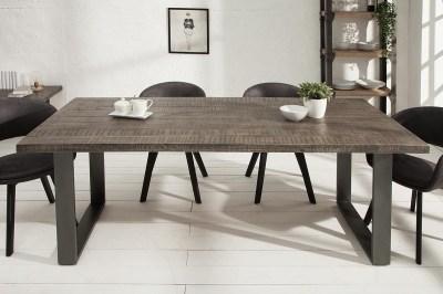 Luxus étkezőasztal Thunder, 160 cm, szürke mangó