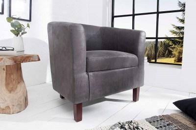 Stílusos fotel Lyric vintage szürke