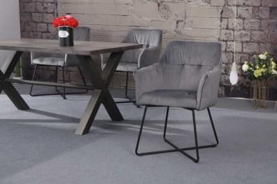 Stílusos szék Giuliana ezüst
