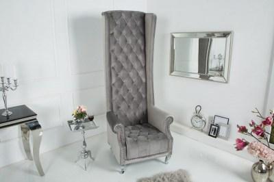Királyi fotel King ezüst-szürke