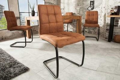 Stílusos szánkótalpas szék Moderna, világos barna