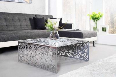 Stílusos asztal Pablo 60 cm ezüst
