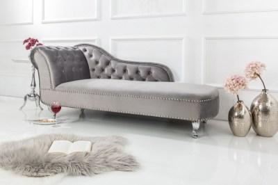 Luxus heverő Chesterfield szürke - bársony