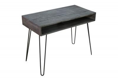 Stílusos íróasztal Felix 100 cm, szürke mangó