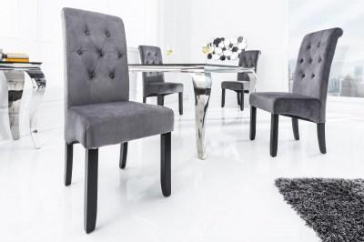 Stílusos szék Clemente párnával, szürke
