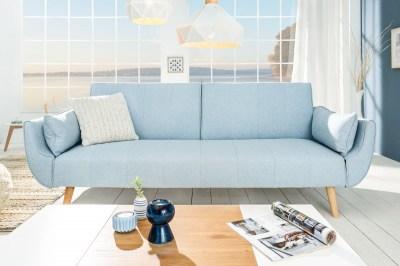 Nyitható ülőgarnitúra Amiyah / 215 cm - világos kék