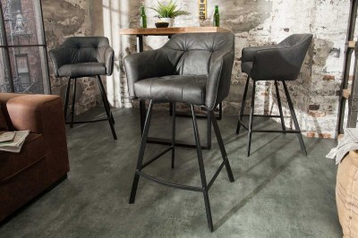 Stílusos bár szék Giuliana, antik szürke