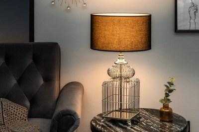 Stílusos asztali lámpa Bruce, 68 cm, ezüst
