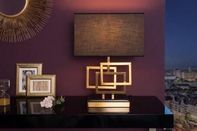 Stílusos asztali lámpa June, 56 cm, arany