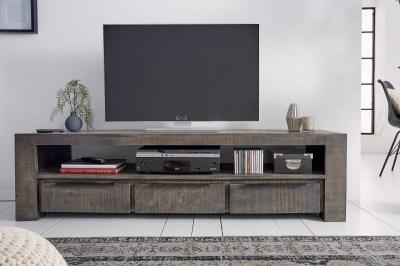 Stílusos TV asztal Thunder 170 cm szürke mangó