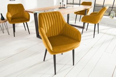 Stílusos szék Esmeralda mustársárga