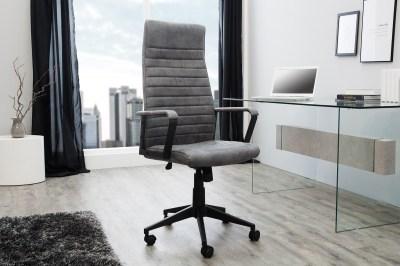 Stílusos irodai szék Roma Vintage szürke 125cm