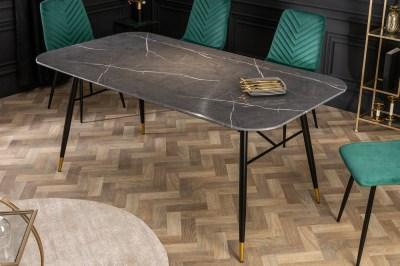 Étkezőasztal Laney 180 cm márvány fekete