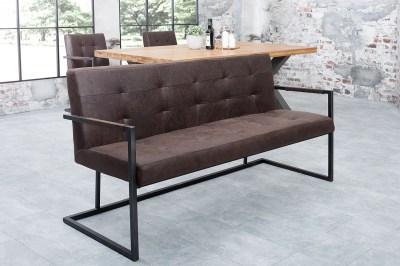 Dizajnová lavica  Ralph / vintage hnedá