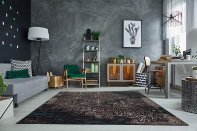 Dizajnový koberec Batik 240x160 cm / tmavo modrá