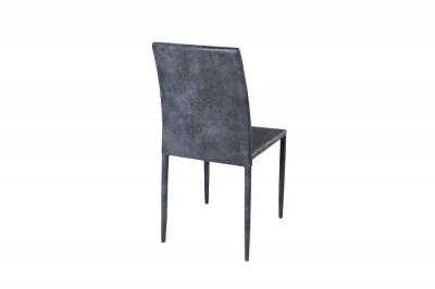 Dizajnová stolička Martino / tmavo sivá - antik