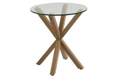 Modern oldalsó asztal Ajamu - tölgyfa utánzat