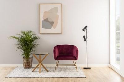 Moderný odkladací stolík Ajamu, imitácia dubové drevo