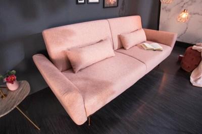 Nyitható ülőgarnitúra Blaine 208 cm vén rózsaszín