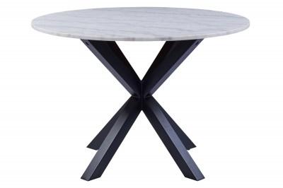 Kerek étkezőasztal Neele 110 cm márvány