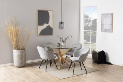 Kerek étkezőasztal Neele 119 cm üveg
