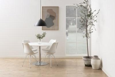 Kerek étkezőasztal Neesha 110 cm fehér