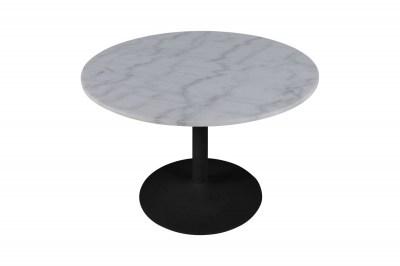 Kerek étkezőasztal Night 110 cm Guangxi fehér márvány