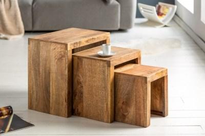 Oldasló asztal szett Timber mangófa natúr - 3 db