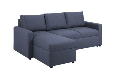 Sarok ágyazható kanapé Amadeus 218 cm - sötétkék - kétoldalas