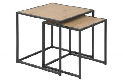 Oldalsó asztal szett Akello - vad tölgy utánzat