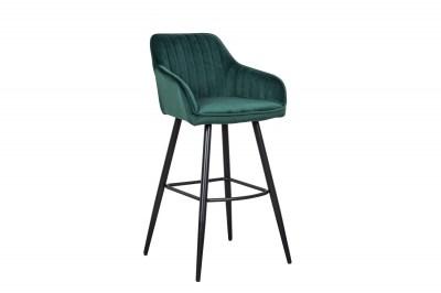 Stílusos bár szék Esmeralda smaragdzöld bársony