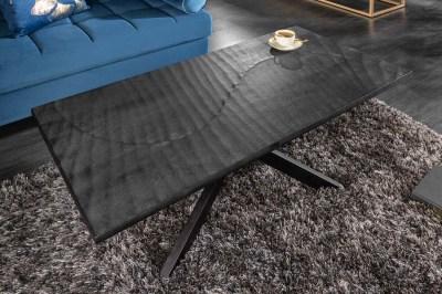 Stílusos dohányzóasztal Shayla 110 cm fekete - mangó