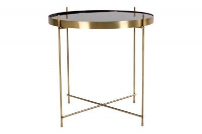 Stílusos dohányzóasztal Tatum 48 cm arany - fekete