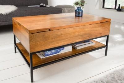 Stílusos dohányzóasztal Unity 80 cm natúr - mangófa