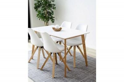 Stílusos étkezőasztal Carmen, natúr - fehér