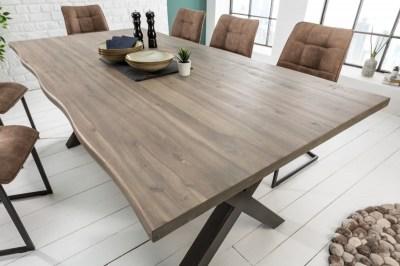 Stílusos étkezőasztal Evolution Grey 160 cm akácia