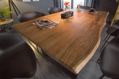 Stílusos étkezőasztal Massive 160 cm vad akácia