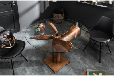 Stílusos étkezőasztal Propeller 94 cm réz