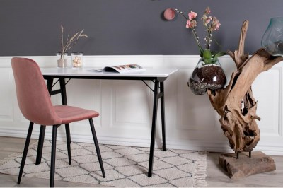 Stílusos étkezőszék Myla, rózsaszín, fekete lábak