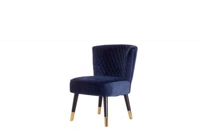 Stílusos fotel Anabella kék bársony