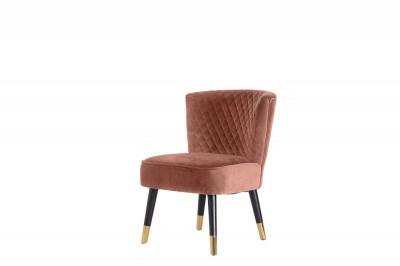 Stílusos fotel Anabella rózsaszín bársony
