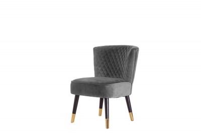 Stílusos fotel Anabella szürke bársony