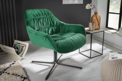 Stílusos fotel Bently smaragdzöld bársony