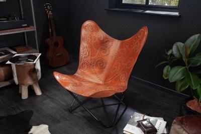 Stílusos fotel Fairy világosbarna bőr