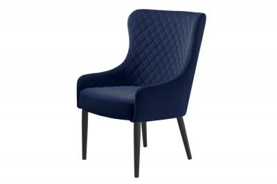 Stílusos fotel Hallie kék bársony