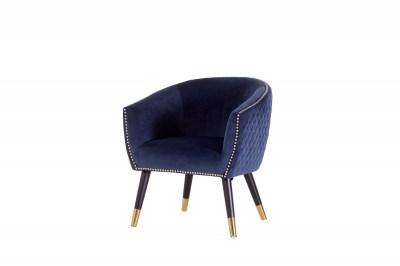 Stílusos fotel Siena kék bársony