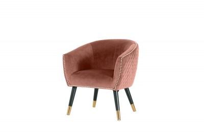 Stílusos fotel Siena rózsaszín bársony