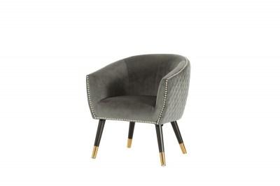 Stílusos fotel Siena szürke bársony