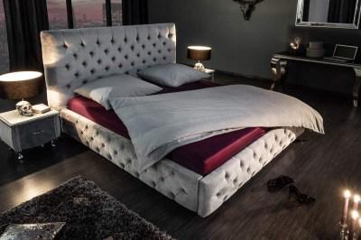 Stílusos francia ágy Laney 160x200 cm szürke bársony