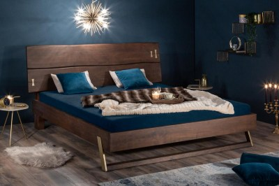 Stílusos francia ágy Massive 180 x 200 cm akácia vinegar
